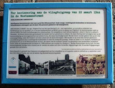 Amsterdam, monument aan de Westzaanstraat