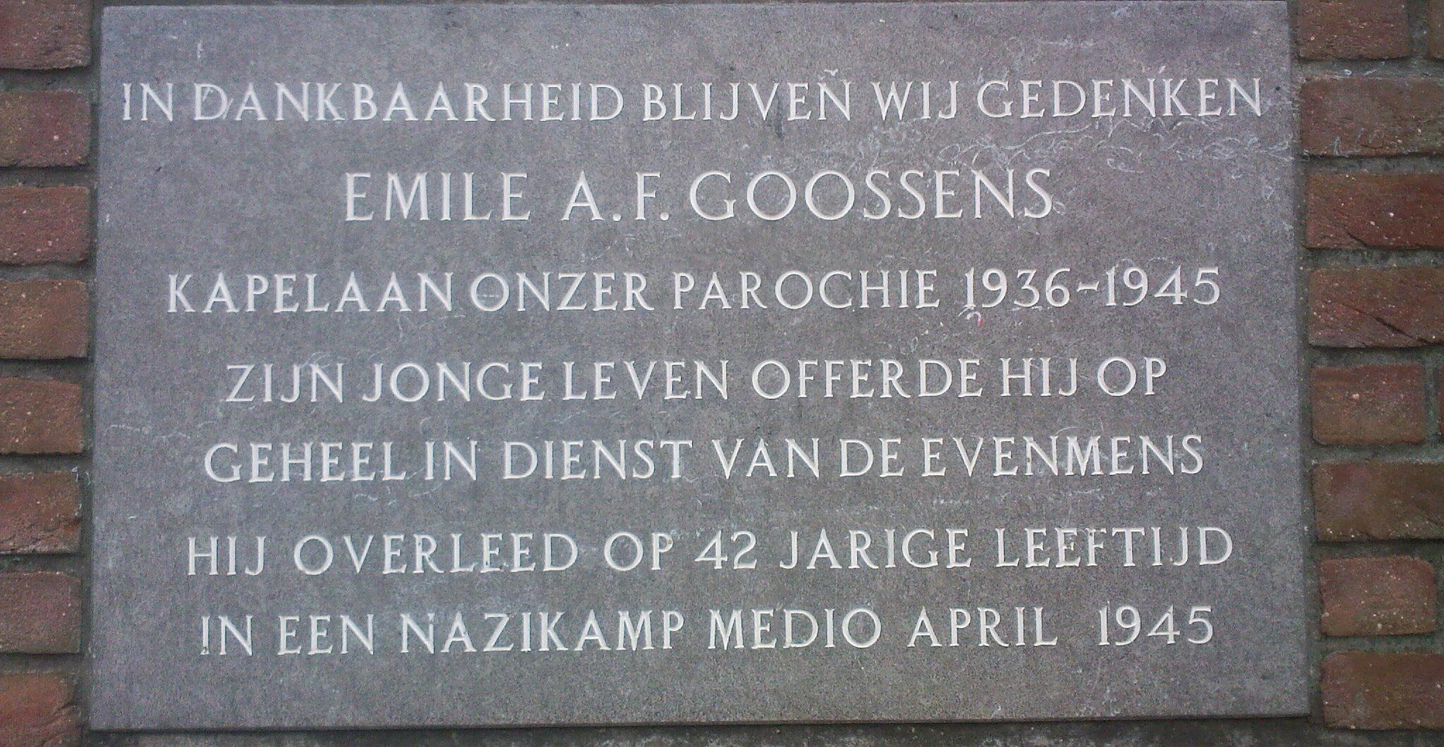 Echt, monument voor kapelaan Emile A.F. Goossens