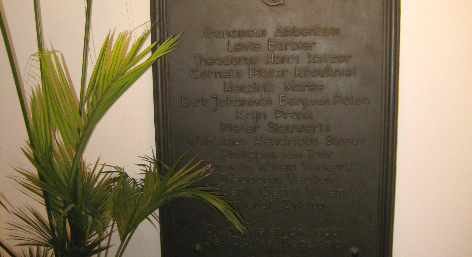 Den Haag, plaquette in het stadhuis