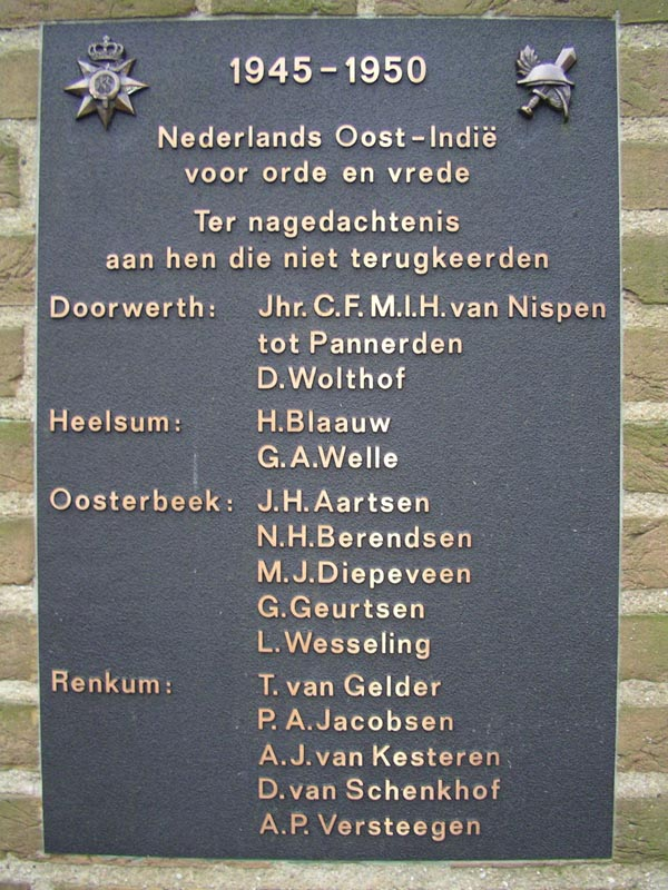 Oosterbeek, 'Indië-monument'