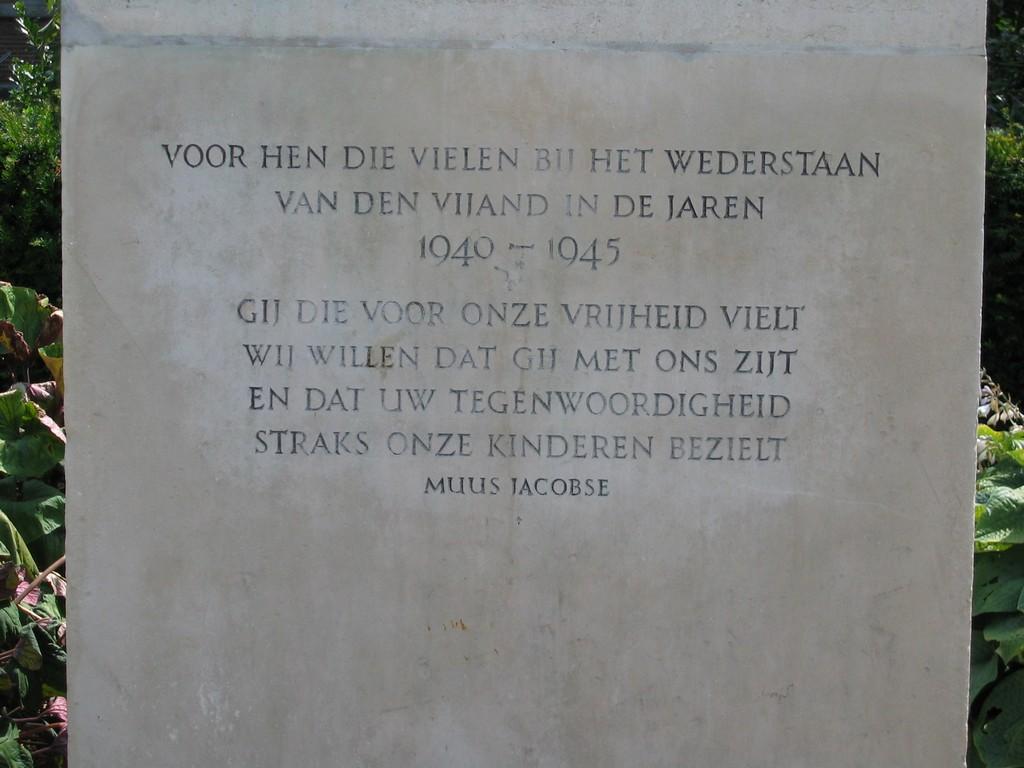 Delft, verzetsmonument