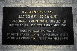 Amsterdam, monument in de Vrije Universiteit