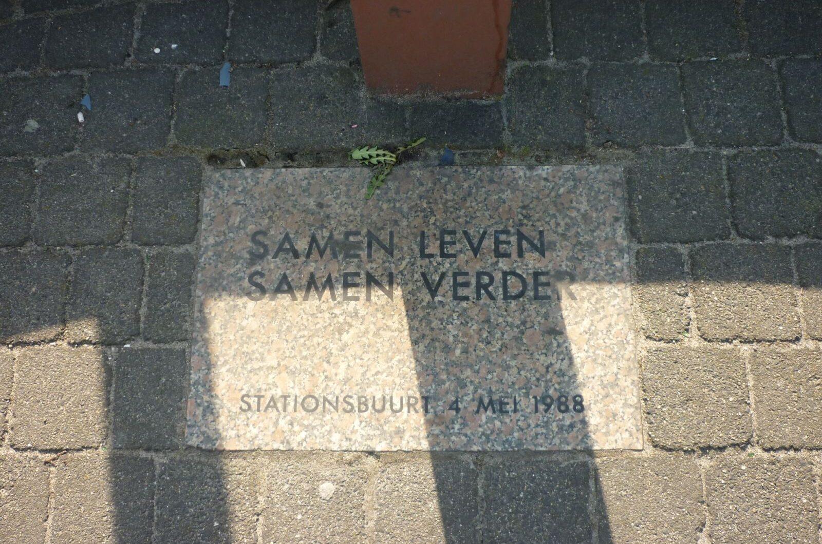 Den Haag, monument aan de Parallelweg