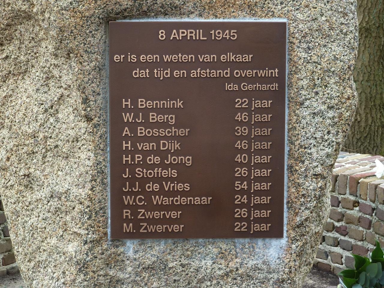 Norg, verzetsmonument Bonhagen