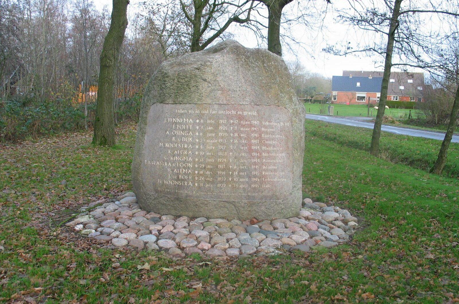 Rinsumageast, monument aan de Eysingaweg