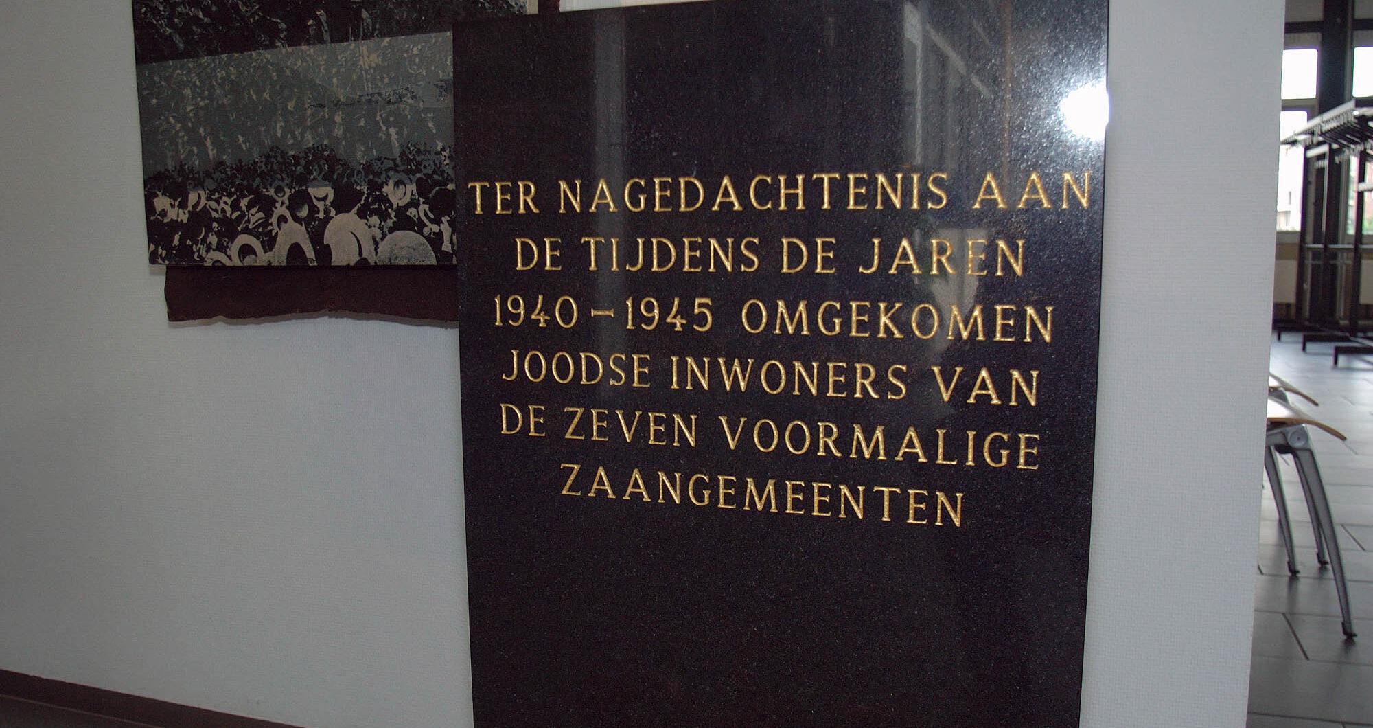Zaandam, monument in het stadhuis