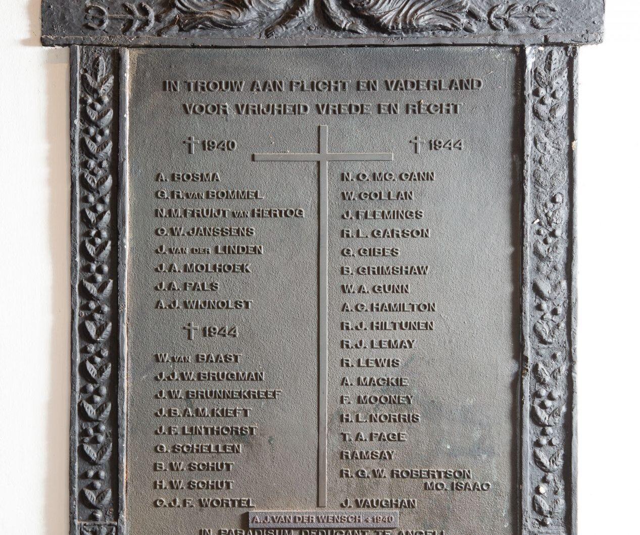 Moergestel, plaquette in de Mariakapel