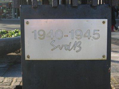 Amsterdam, monument aan de Johan Huizingalaan