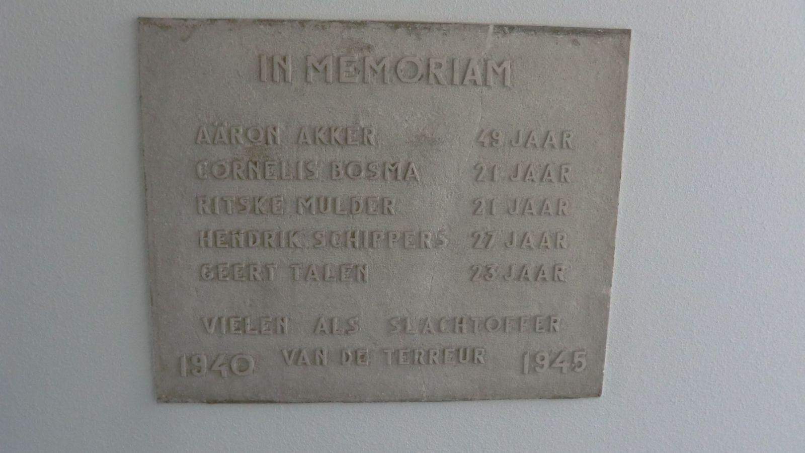 Wolvega, plaquette in de Zuivelfabriek