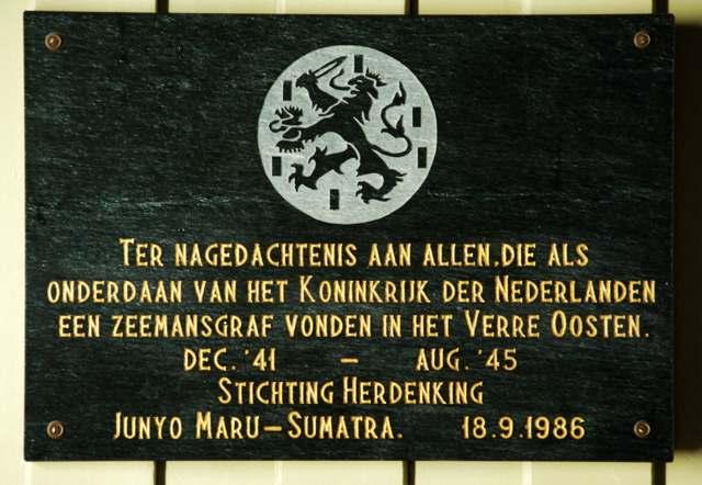 Loenen, Ereveld Loenen - plaquette zeevaarders (foto: Jan van den Heuvel)