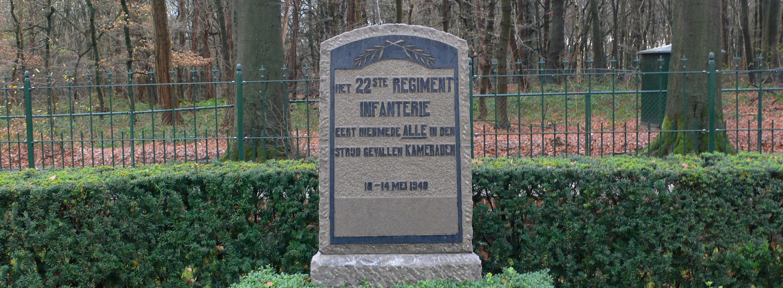 Rhenen, monument 22ste Regiment Infanterie (foto: Nationaal Comité 4 en 5 mei)