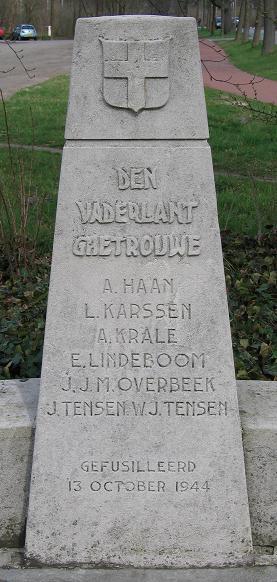 Zwolle, monument op schietbaan 'Berkum'