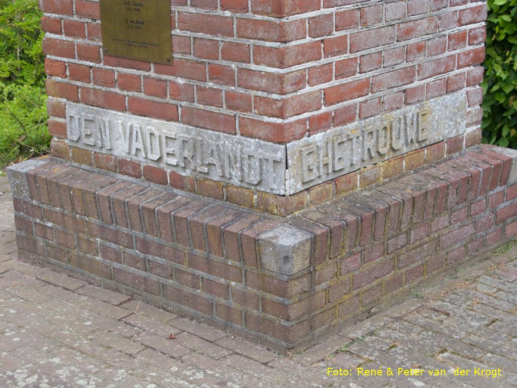 Baarle-Nassau, 'Monument voor Nederlandse Militairen' (foto: Peter en René van der Krogt)