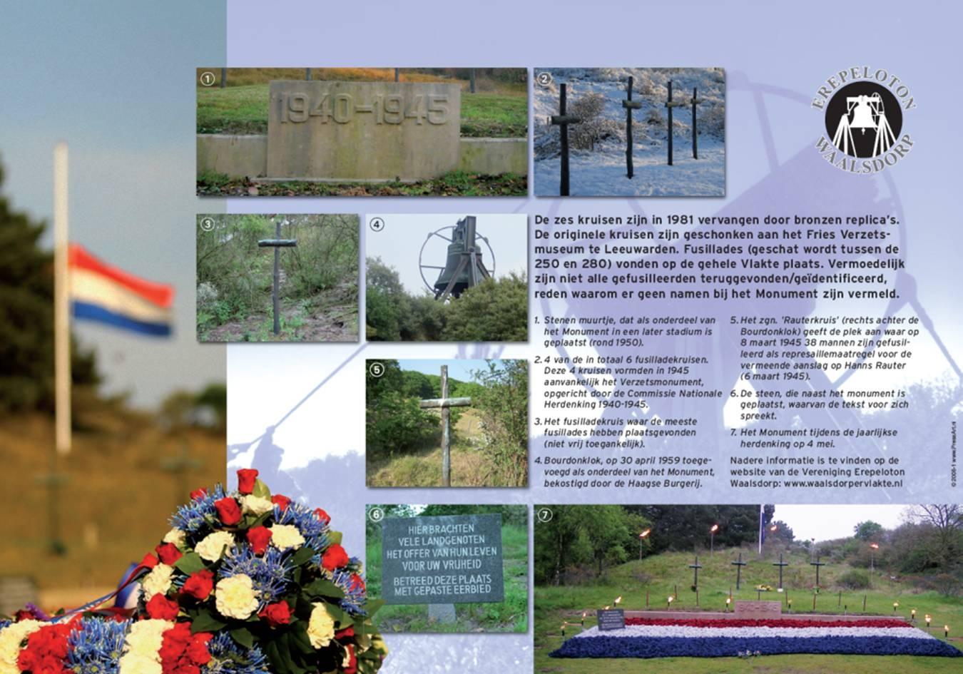 Informatiebord bij het monument (foto: Vereniging Erepeloton Waalsdorp)