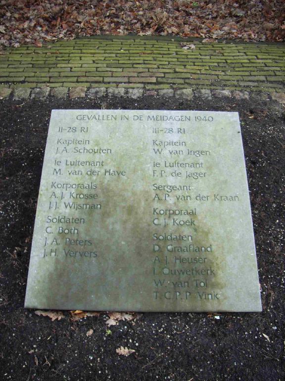 Dordrecht, 'Monument 28 R.I. 10 mei 1940'