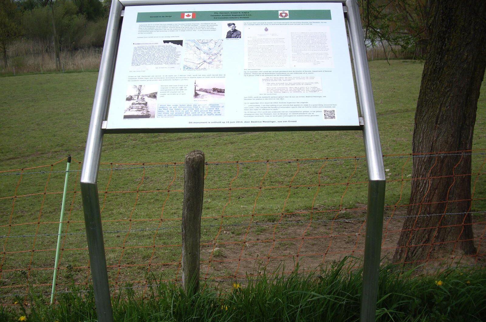Leuth, monument voor Ernest David Harrison