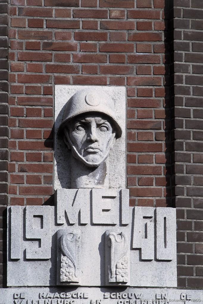 Leiden, monument aan de Haagsche Schouwweg (Foto: B. van Bohemen / NIOD)