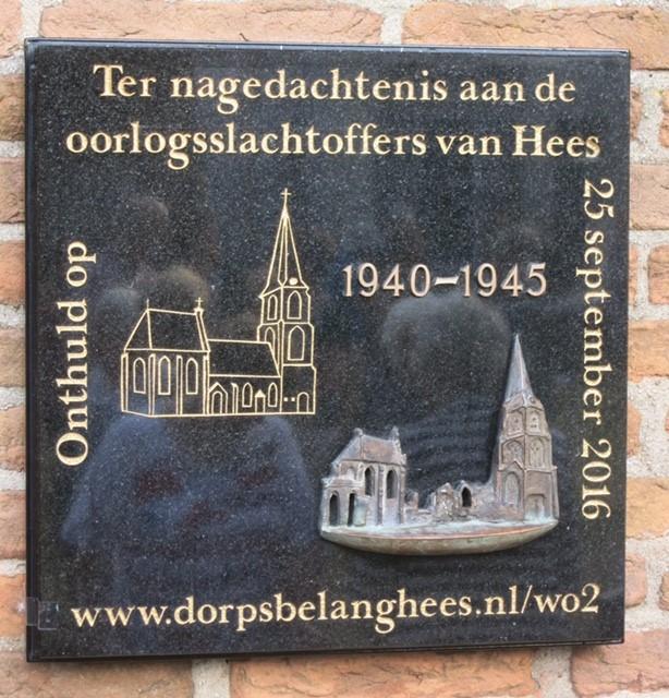 Nijmegen, plaquette voor de oorlogsslachtoffers van Hees