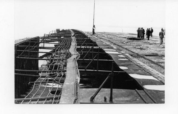 Ondergang van de Cap Arcona (bron: Stichting Vriendenkring Neuengamme)