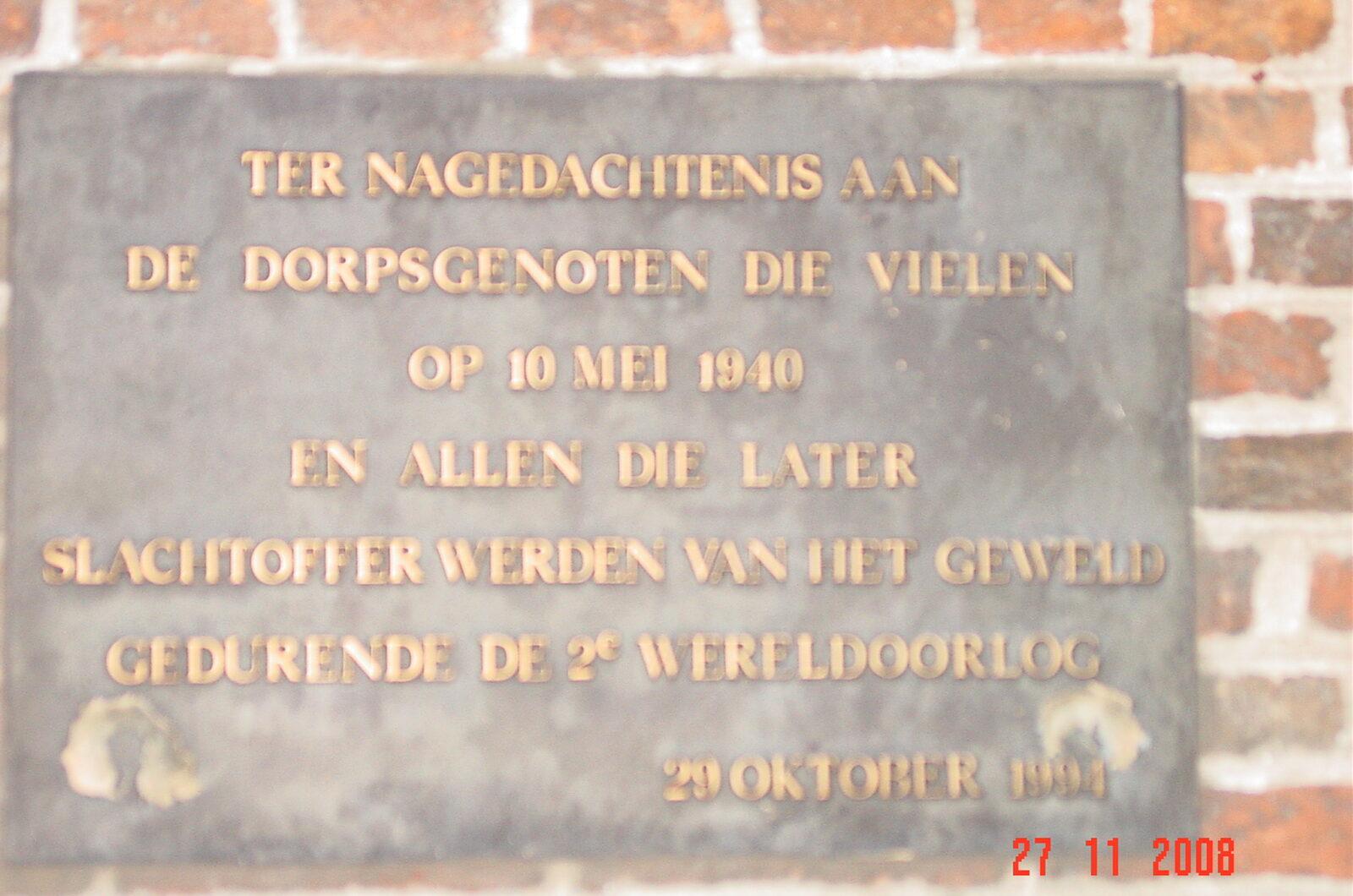 Etten-Leur, 'Herdenkingsplaquette WOII'
