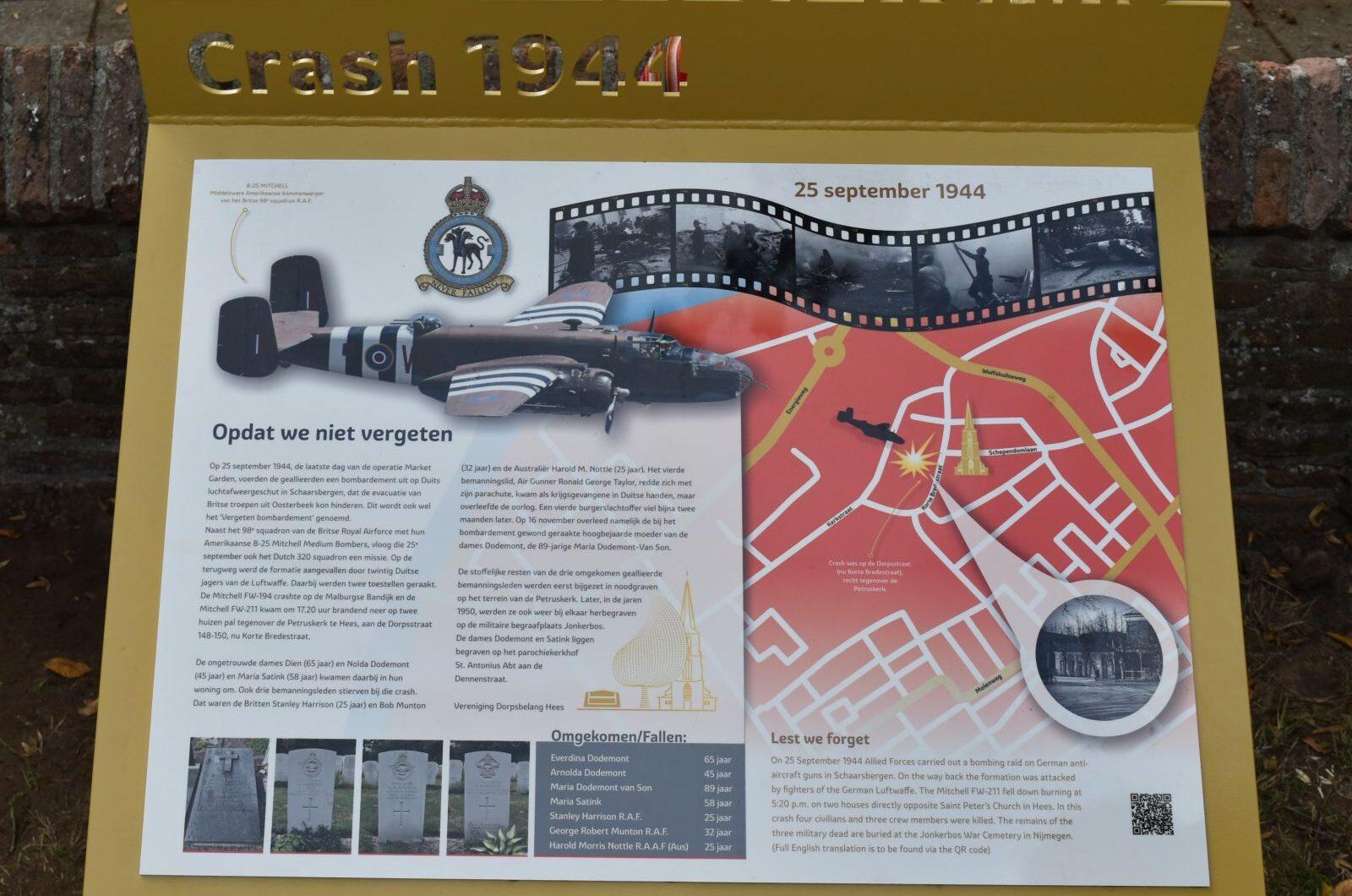 Nijmegen, crashmonument Hees