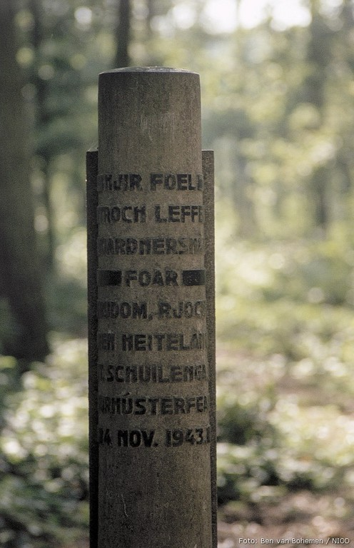 Fochteloo, monument in het 'Tiesinga bosje'