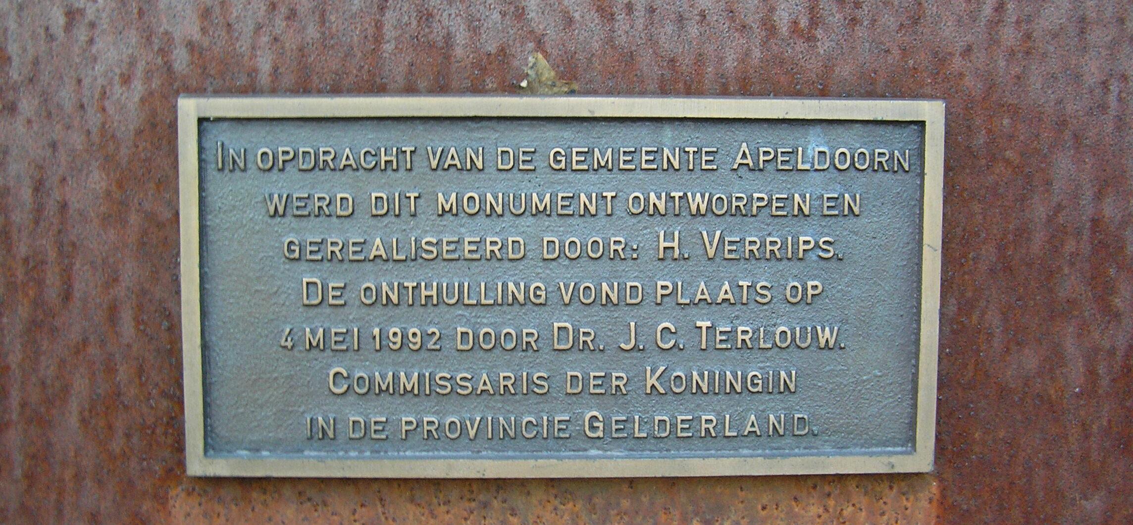 Informatiebordje Beekbergen