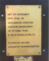 Oosterend, 'Lancaster-monument'