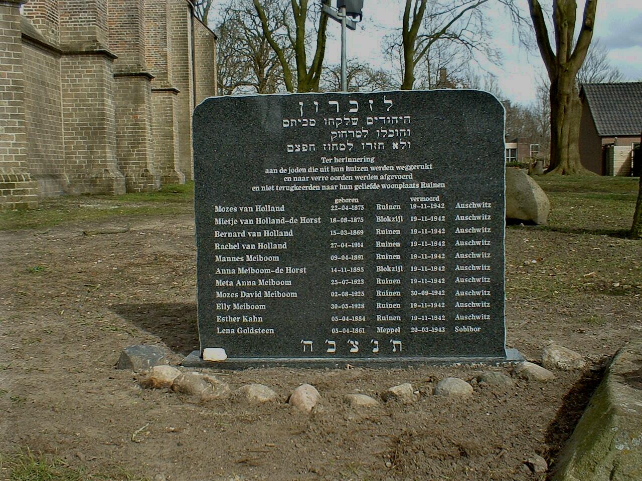Ruinen, 'Joods monument'